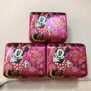 ディズニー(Disney)のディズニー ミニー お菓子 空き缶 3個セット(キャラクターグッズ)