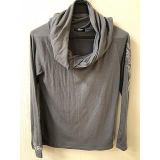 トルネードマート(TORNADO MART)のトルネードマート ボリュームネックカットソー グレー サイズM(Tシャツ/カットソー(七分/長袖))