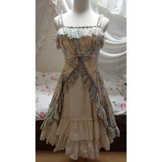 ヴィクトリアンメイデン(Victorian maiden)のVictorian maiden ローズレースリボンドレス アジュールブルー(ひざ丈ワンピース)