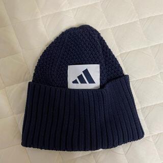 アディダス(adidas)の★adidas★ニット帽 ネイビー(ニット帽/ビーニー)