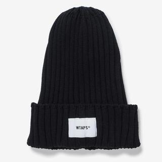 ダブルタップス(W)taps)の黒 WTAPS BEANIE COPO. COOLMAX ビーニー ニット帽(ニット帽/ビーニー)