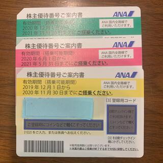 エーエヌエー(ゼンニッポンクウユ)(ANA(全日本空輸))のANA 株主優待券3枚(その他)
