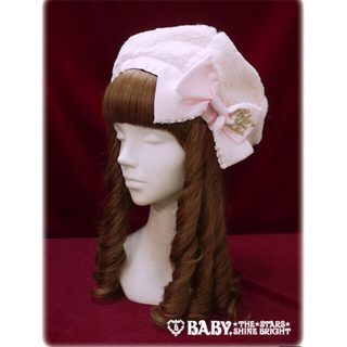 BABY,THE STARS SHINE BRIGHT - 定価  9612円●送料無料●BABY●ふわふわファーベレー帽子ベビーピンク
