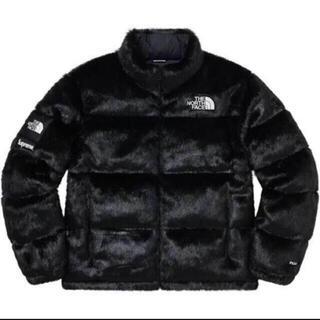 シュプリーム(Supreme)の 新品★黒★supreme  TNF faux fur jacket ★M(ダウンジャケット)