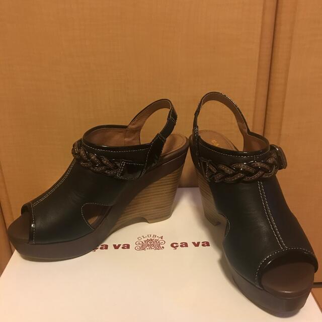 cavacava(サヴァサヴァ)の新品サヴァサヴァ cava cava 厚底サンダル 23.0 レディースの靴/シューズ(サンダル)の商品写真