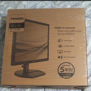 フィリップス(PHILIPS)の【PHILIPS】 17型液晶ディスプレイ ブラック スピーカ内蔵 5年保証(ディスプレイ)
