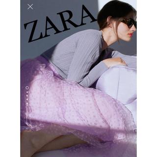 ザラ(ZARA)のZARA ⭐︎花柄チュールスカート(ひざ丈スカート)
