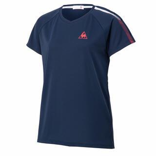 ルコックスポルティフ(le coq sportif)のle coq sportif ルコックスポルティフ 半袖シャツ紺 レディースXL(ウェア)