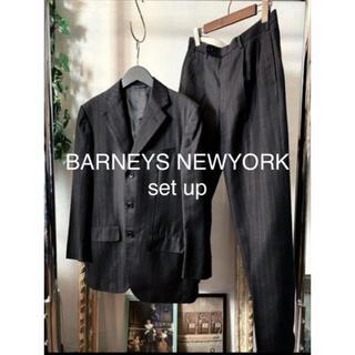バーニーズニューヨーク(BARNEYS NEW YORK)の【美品】BARNEYS NEWYORK setup  チャコール(セットアップ)