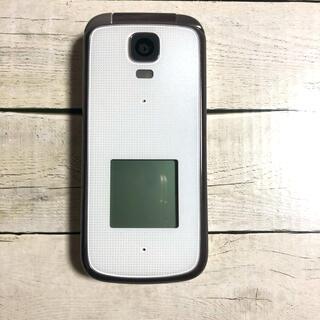 キョウセラ(京セラ)のau K012 京セラ 簡単ケータイ 美品(携帯電話本体)