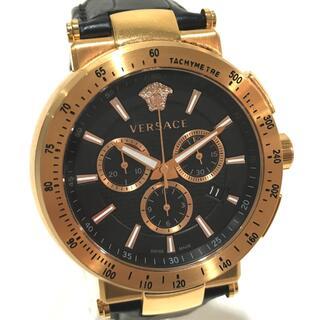 ヴェルサーチ(VERSACE)のヴェルサーチ ミスティック スポーツ メデューサ  デイト 腕時計 ゴールド(腕時計(アナログ))