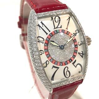 フランクミュラー(FRANCK MULLER)のフランクミュラー ダイヤベゼル センターダイヤ 腕時計 ホワイトゴールド(腕時計(アナログ))