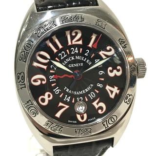 フランクミュラー(FRANCK MULLER)のフランクミュラー トランスアメリカ ワールドワイド  GMT デイト 腕時計(腕時計(アナログ))