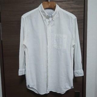 チャオパニックティピー(CIAOPANIC TYPY)のチャオパニック 七分袖シャツ コットンリネン 綿 麻 白シャツ(シャツ)