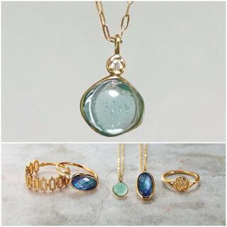 アガット(agete)のagete アガット K10 ローマンガラス ダイヤモンド ネックレス(ネックレス)