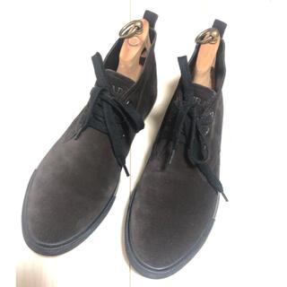 プラダ(PRADA)のPRADAプラダ スエードショートブーツ9 1/2 足のサイズ27.5-28cm(ブーツ)
