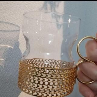 イッタラ(iittala)のiittala ツァイッカ クリアグラスゴールドホルダー(グラス/カップ)
