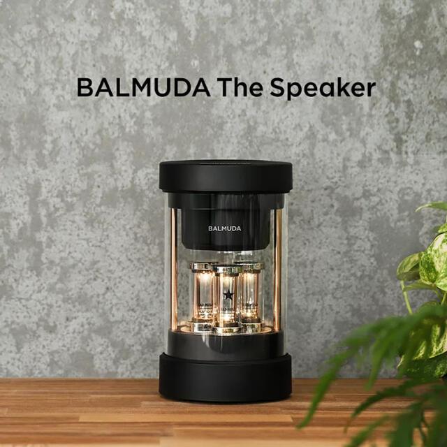 BALMUDA(バルミューダ)のBALMUDA The Speaker ワイヤレススピーカー M01A-BK スマホ/家電/カメラのオーディオ機器(スピーカー)の商品写真