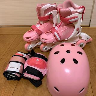 売り切り☆子供用インラインスケート◎補助輪付き(ローラーシューズ)