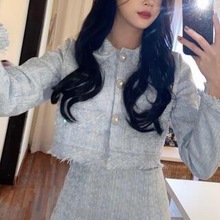 スタイルナンダ(STYLENANDA)の【予約商品】《2カラー》ツイード 春色 JK  セットアップ 韓国ファッション (セット/コーデ)