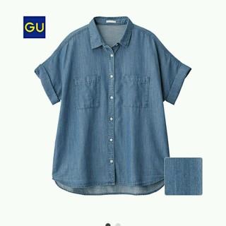 ジーユー(GU)の夏物セール! ジーユー デニムシャツ(シャツ/ブラウス(半袖/袖なし))