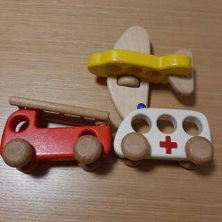 ボーネルンド(BorneLund)のボーネルンド 木のおもちゃ 消防車 救急車 飛行機(電車のおもちゃ/車)