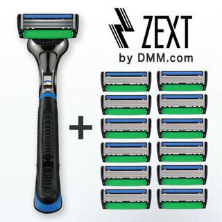 6枚刃カミソリ ZEXT替刃13個 ホルダー付きセット 髭剃り(カミソリ)
