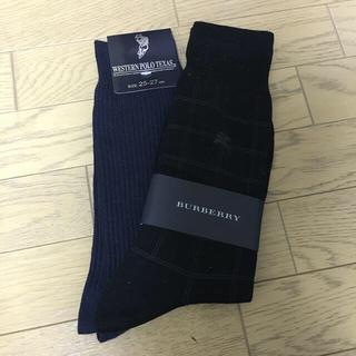 BURBERRY - Burberry バーバリー 靴下 黒 25〜26センチ