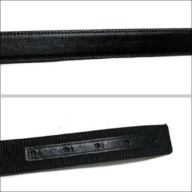 Christian Dior(クリスチャンディオール)のJ4019 美品 クリスチャンディオール リボンモチーフベルト ブラック T38 メンズのファッション小物(ベルト)の商品写真