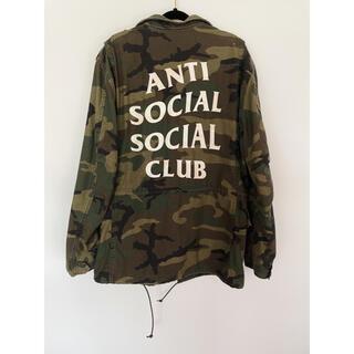 シュプリーム(Supreme)のanti social social club ミリタリージャケット(ミリタリージャケット)