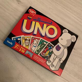 ウーノ(UNO)のuno ベアブリック ほぼ未使用(トランプ/UNO)