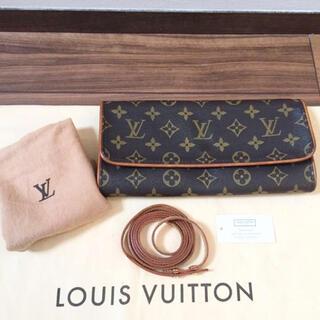 ルイヴィトン(LOUIS VUITTON)の【美品 保存袋付き】正規品 ルイヴィトン ポシェットツインGM ショルダーバッグ(ショルダーバッグ)