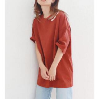 アングリッド(Ungrid)のungrid 襟プリントTee(Tシャツ(半袖/袖なし))