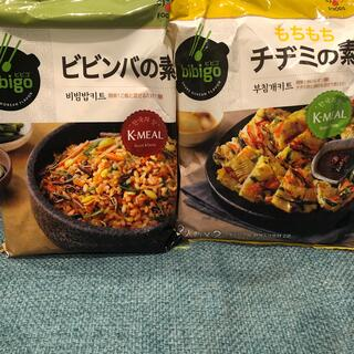 コストコ(コストコ)のbibigo⭐︎ビビンバの素&チヂミの素(レトルト食品)