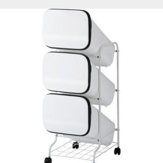リス スムーススタンドダストボックス 3段 ホワイト(ごみ箱)