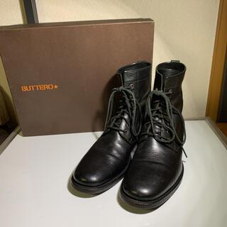 ブッテロ(BUTTERO)の美品 BUTTERO ブッテロ レースアップブーツ   サイズ40 1/2(ブーツ)