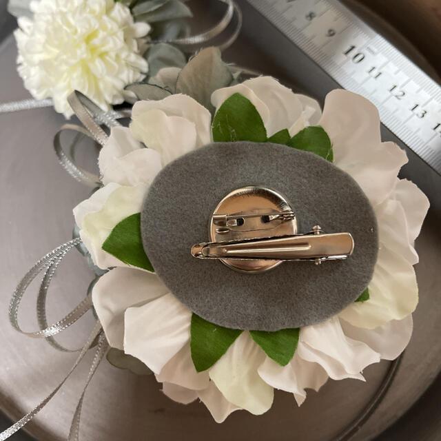 toytoy627-大コサージュ 単品 【ホワイト】卒業式 入学式 結婚式 ハンドメイドのアクセサリー(コサージュ/ブローチ)の商品写真