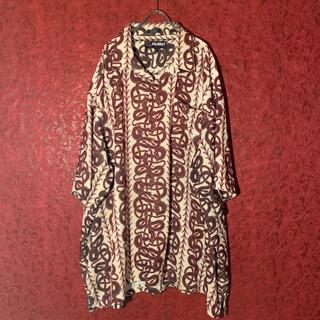 FUBU - 【90s】FUBU 総柄半袖ビッグシャツ ドラゴン オーバーシルエット