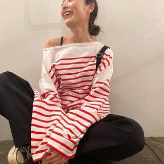 ヤエカ(YAECA)のOUTIL ウティ バスクシャツ サイズ2(カットソー(長袖/七分))