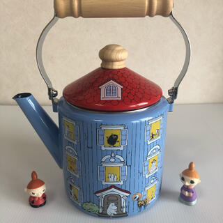 フジホーロー(富士ホーロー)のMOOMIN ムーミンハウス 琺瑯 2.0L やかん 富士ホーロー (調理道具/製菓道具)