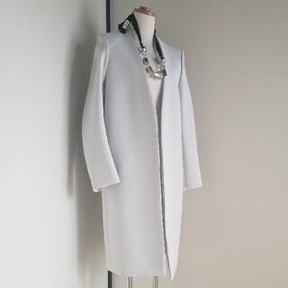 エンフォルド(ENFOLD)のENFOLD エンフォルド スプリングノーカラーコート 美品 ネックレス付き(スプリングコート)