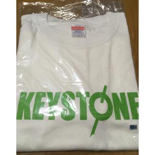 keystone Tシャツ ホワイト×ライトグリーン (L)(ウエア)