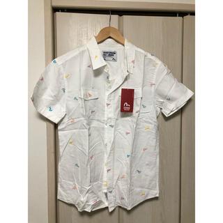 エビス(EVISU)の新品未使用品韓国EVISUしゅう刺繍レインボーロゴシャツサイズM タグ付き(シャツ)