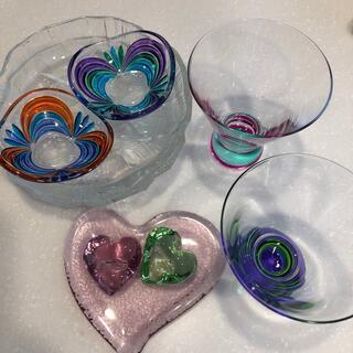 スガハラ(Sghr)のガラス食器•アクセサリートレイ9点セット(食器)