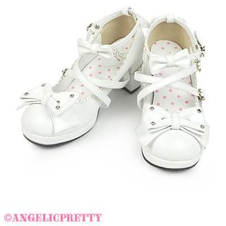 アンジェリックプリティー(Angelic Pretty)の宝石リボンシューズ シロ(ハイヒール/パンプス)