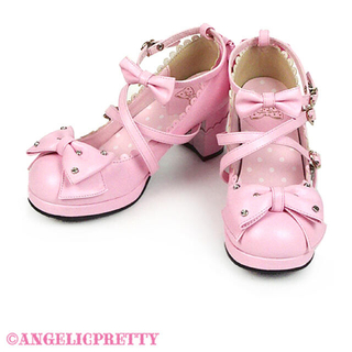 アンジェリックプリティー(Angelic Pretty)の宝石リボンシューズ ピンク(ハイヒール/パンプス)