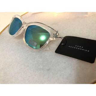 ザラ(ZARA)の新品 ZARA SUNGLASSES 樹脂コーティング加工入り透明サングラス(サングラス/メガネ)