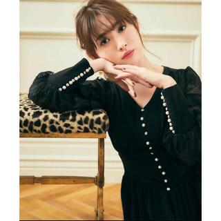 スナイデル(snidel)のHerlipto Embellished Satin Long Dress 美品(ロングワンピース/マキシワンピース)
