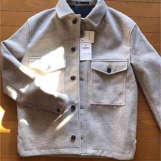 ザラ(ZARA)のZARA CPOフリースシャツジャケットグレー(ブルゾン)