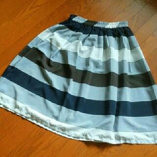 メルローズクレール(MELROSE claire)のMELROSE CLAIRE フレアスカート(ロングスカート)